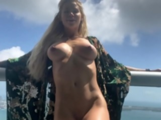 blonde Blonde busty victoria summers strips down in solo big boobs
