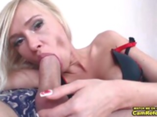 couple Blonde Chick Love___Is Gives Her Male Friend A Blowjob On Cam - CamReferral.com small tits