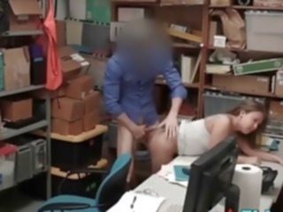 hardcore Security Guard Takes Sexual Advantage Of Teen Shoplifter amateur