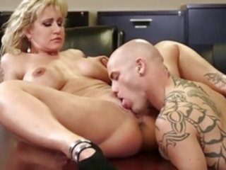 milf Ryan Conner Busty Milf In Office pussy licking