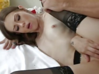 small tits Alexa Nova gets fucked hard by her friend's brother - Naughty America stockings