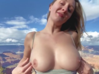 blonde EPIC Grand Canyon Adventure Sex - Molly Pills - Public Nature Creampie POV big tits