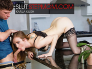 milf Hot Step Mom Karla Kush Seduces Step Son While His Dad Is Away - NaughtyAmerica high heels
