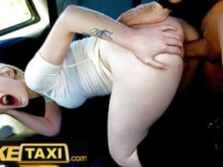 blonde Fake Taxi, Hot posh student tries anal fucking with big cock babe